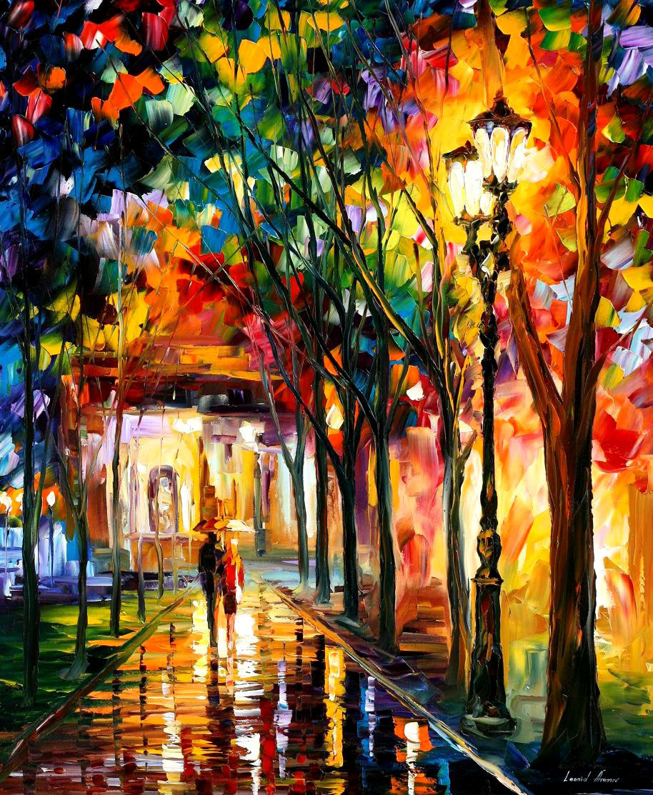 "HARMONY — PALETTE KNIFE Oil Painting On Canvas By Leonid Afremov - Size 30""x36"" (offer)"