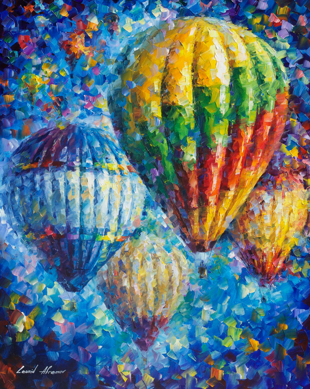 "UP IN THE SKY - Palette Knife Oil Painting On Canvas By Leonid Afremov - 24""X30""  (offer)"