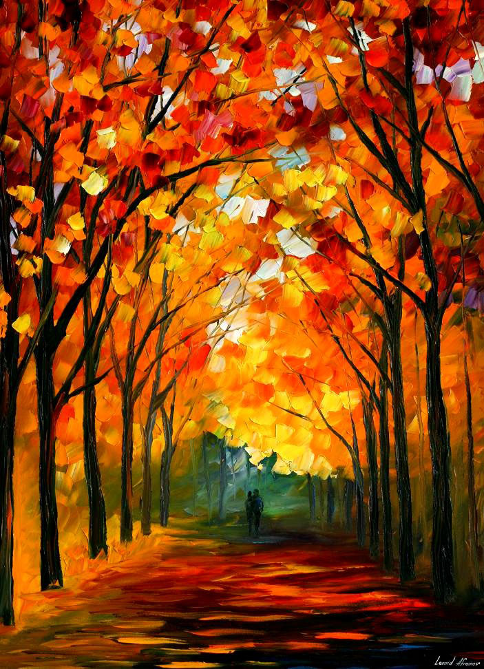 "FAREWELL TO AUTUMN — Original Oil Painting On Canvas By Leonid Afremov - Size 30""x40"""