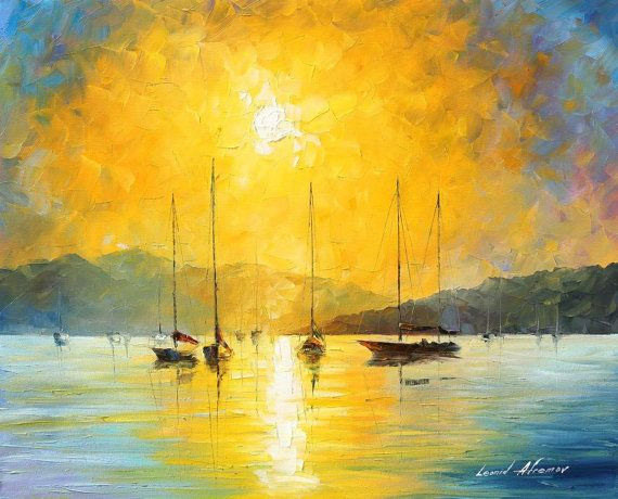 "Baja California — PALETTE KNIFE Oil Painting On Canvas By Leonid Afremov - Size 40""X30"""
