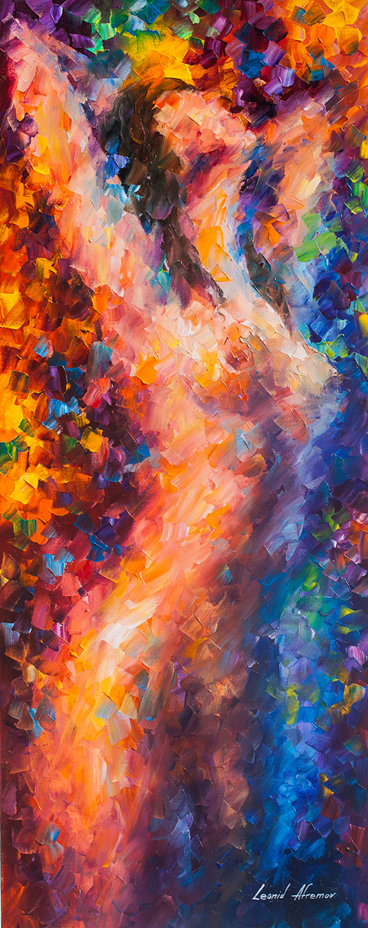 Strings Of Hapiness - Palette Knife Oil Painting On Canvas -2101
