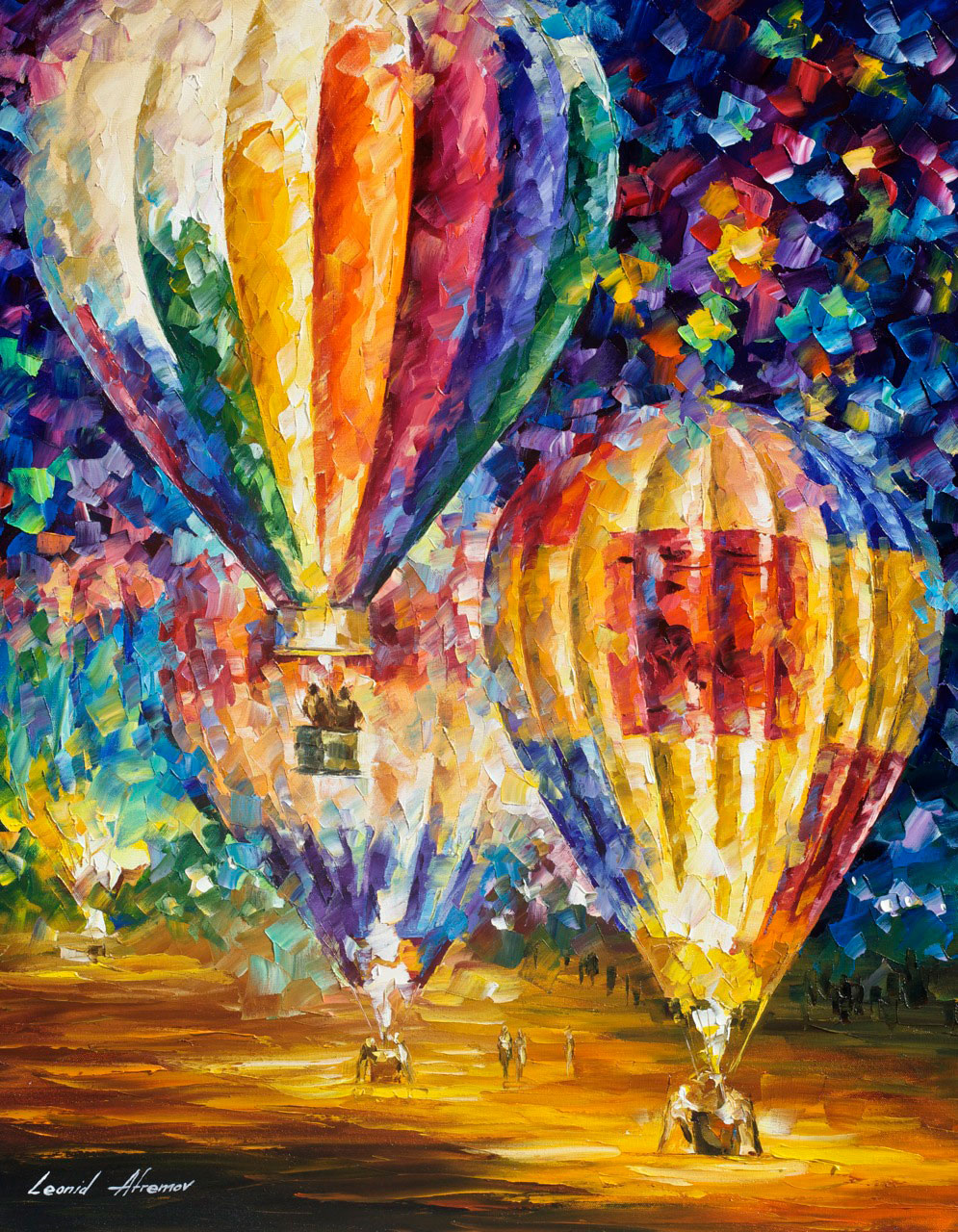 "BALLOON AND EMOTIONS - Original Oil Painting On Canvas By Leonid Afremov - 24""X30""  (60cm x 75 cm)"