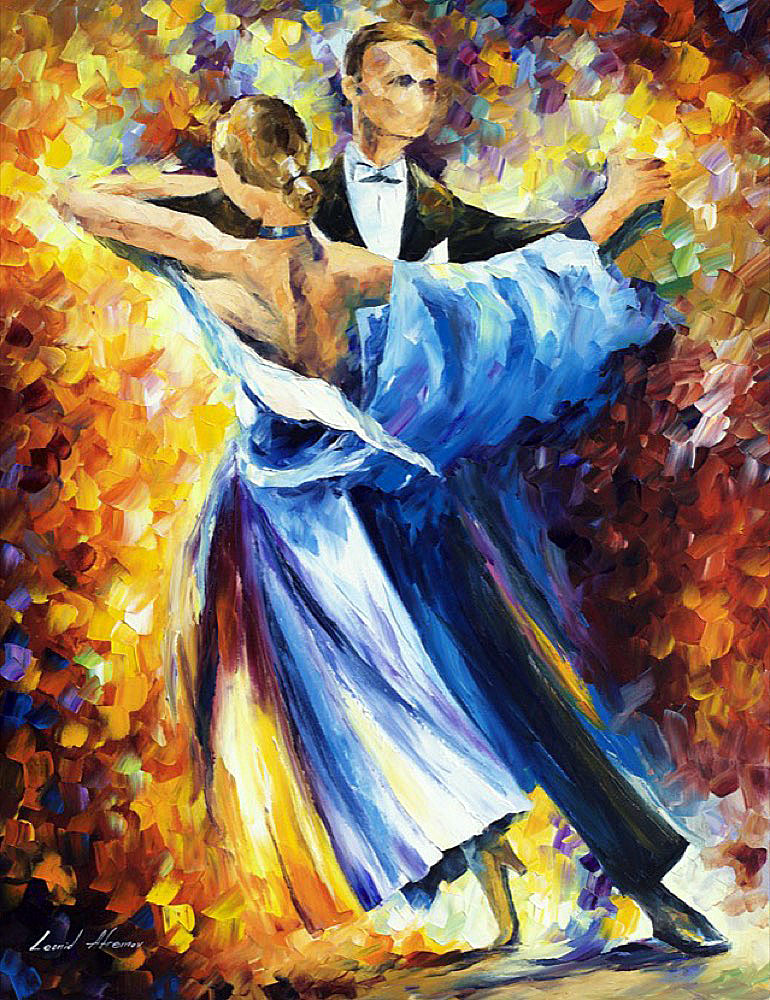 "CLASSICAL DANCE — Original Oil Painting On Canvas By Leonid Afremov - Size 30""x40"" (75cm x 100cm)"