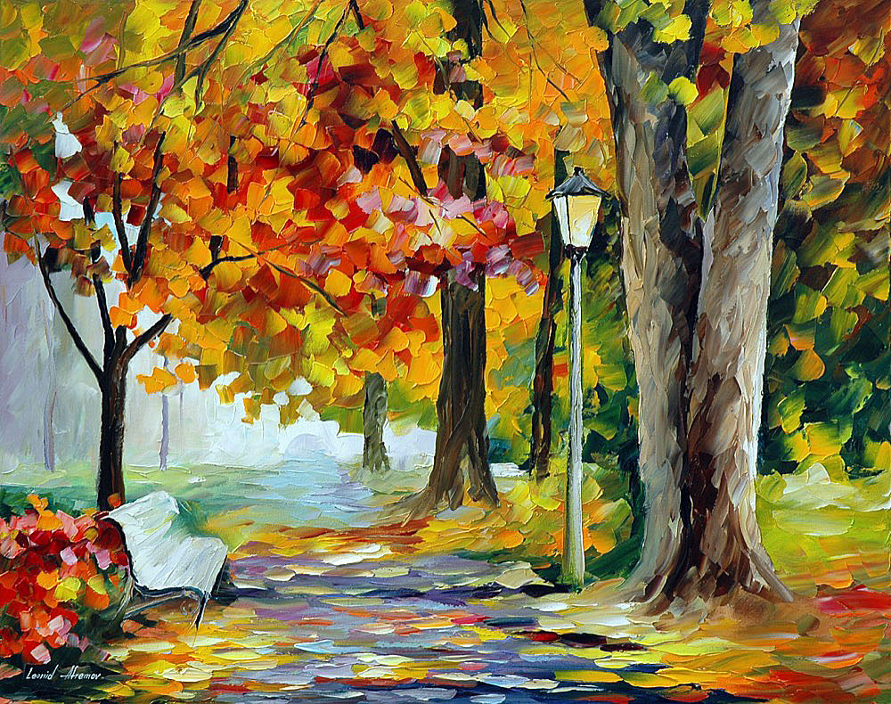"FORGOTTEN DATE — Original Oil Painting On Canvas By Leonid Afremov - Size 24""x30"" (60cm x 75cm)"