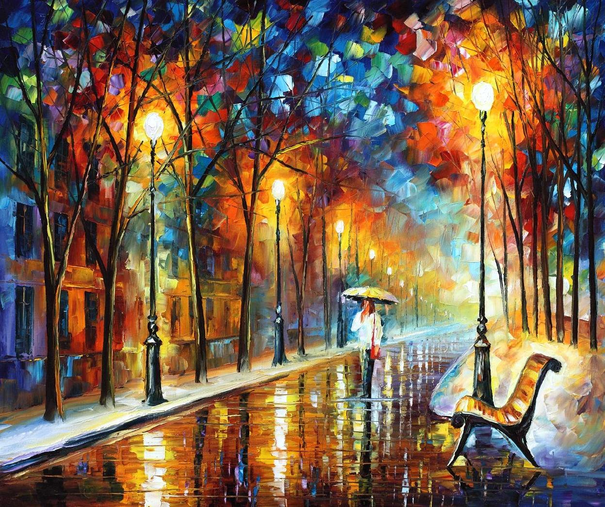 "OLD DREAM — Original Oil Painting On Canvas By Leonid Afremov - Size 36""X30"""