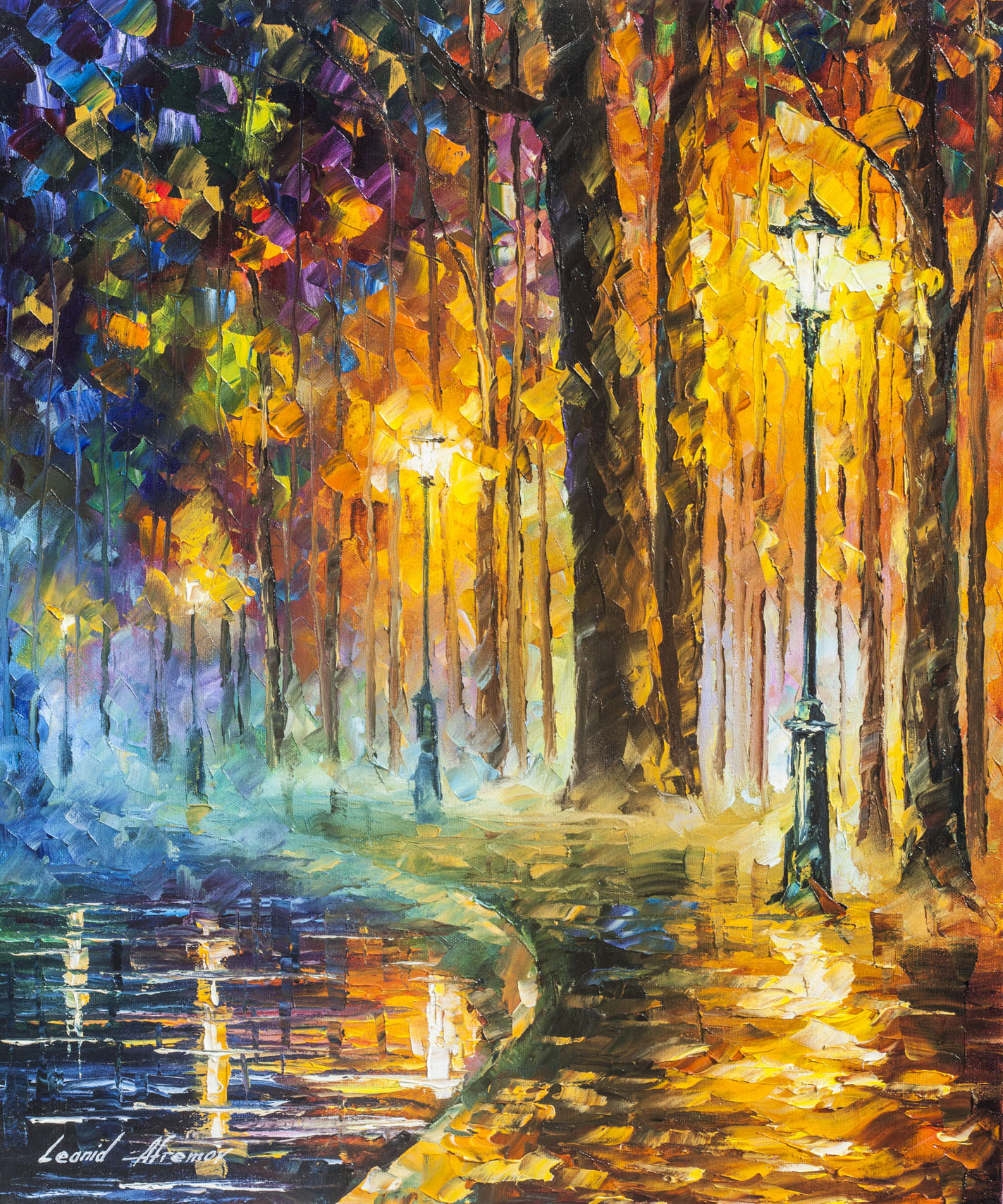 "CREATION OF FEELINGS - Original Oil Painting On Canvas By Leonid Afremov - 20""X24"" (50cm x 60cm)"