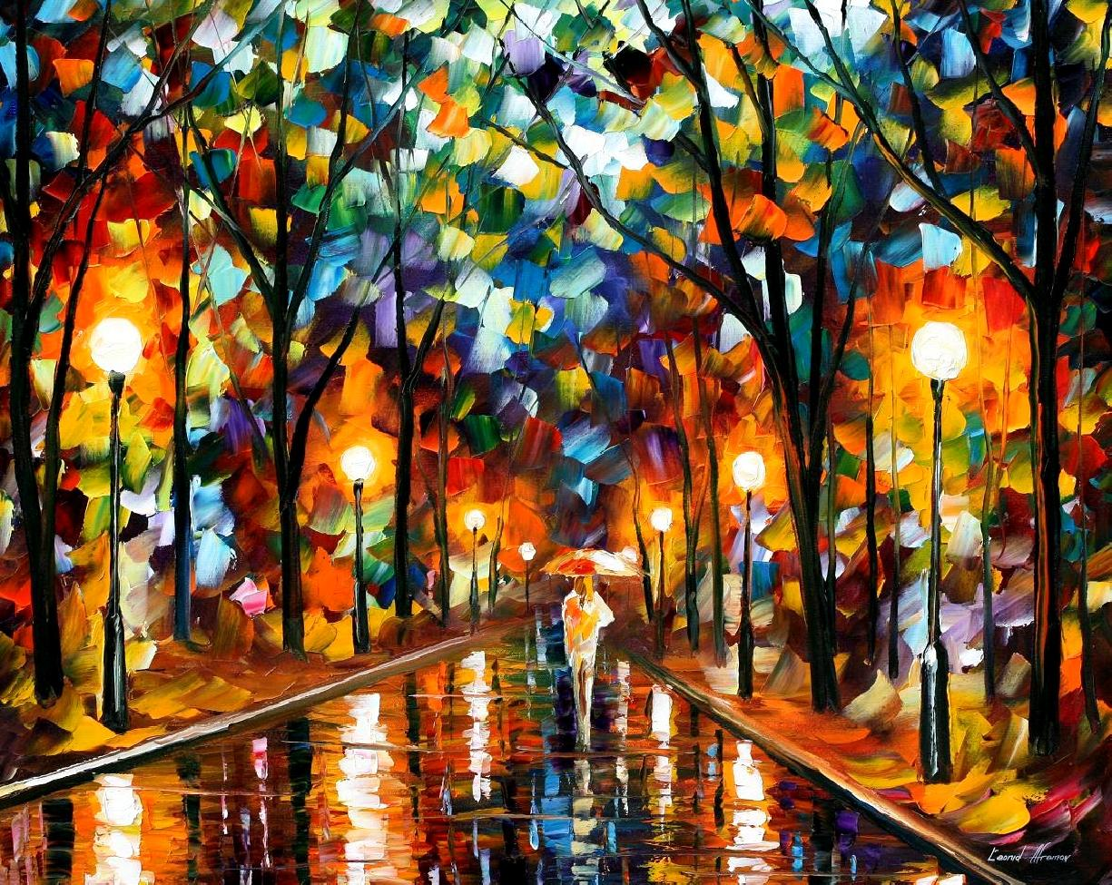 "SPECTRUM OF FEELINGS— Original Oil Painting On Canvas By Leonid Afremov - Size 30""x24"""
