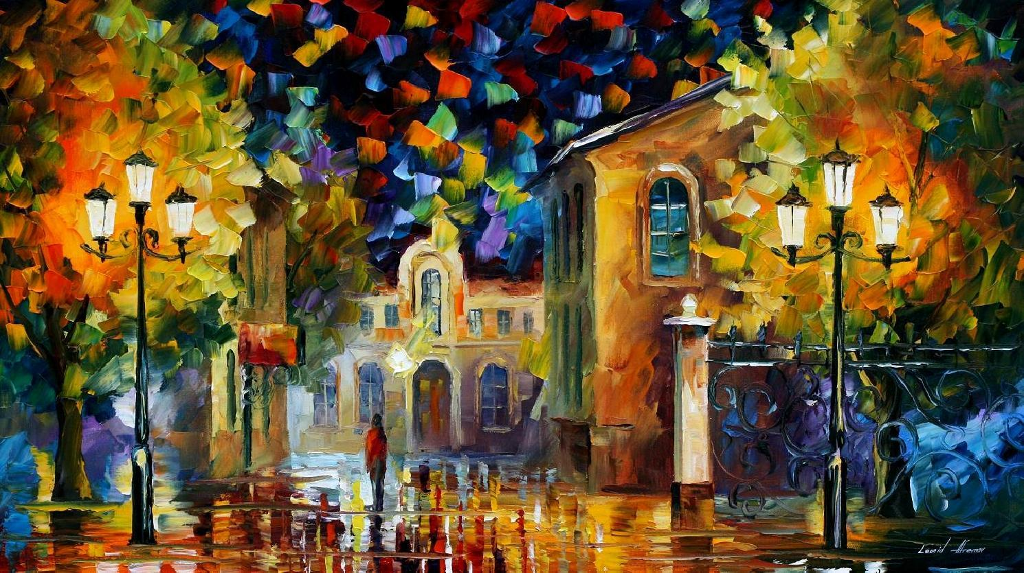 MIDNIGHT WONDERS — PALETTE KNIFE Oil Painting On Canvas By ...