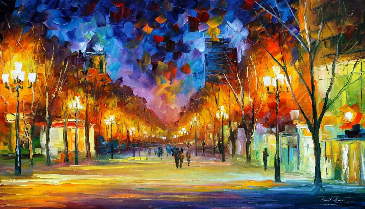 Holiday Aura Palette Knife Oil Painting On Canvas By