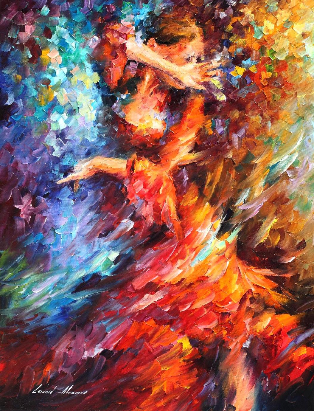 "LATIN TWIST - Original Oil Painting On Canvas By Leonid Afremov - 30""X40"""
