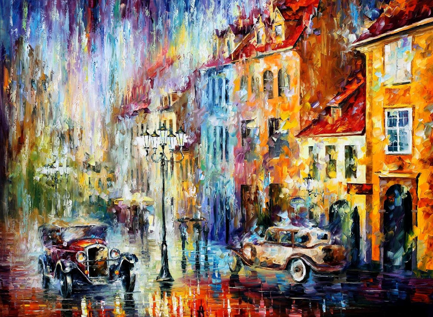 "LONG DAY - Original Oil Painting On Canvas By Leonid Afremov - 40""X30"" (100cm x 75 cm)"
