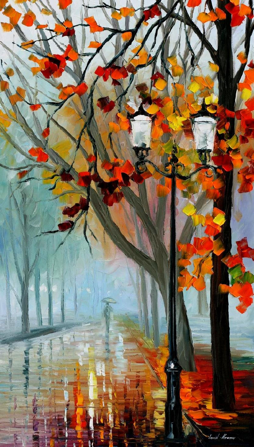 Autumn fog in the park for Americas best paint