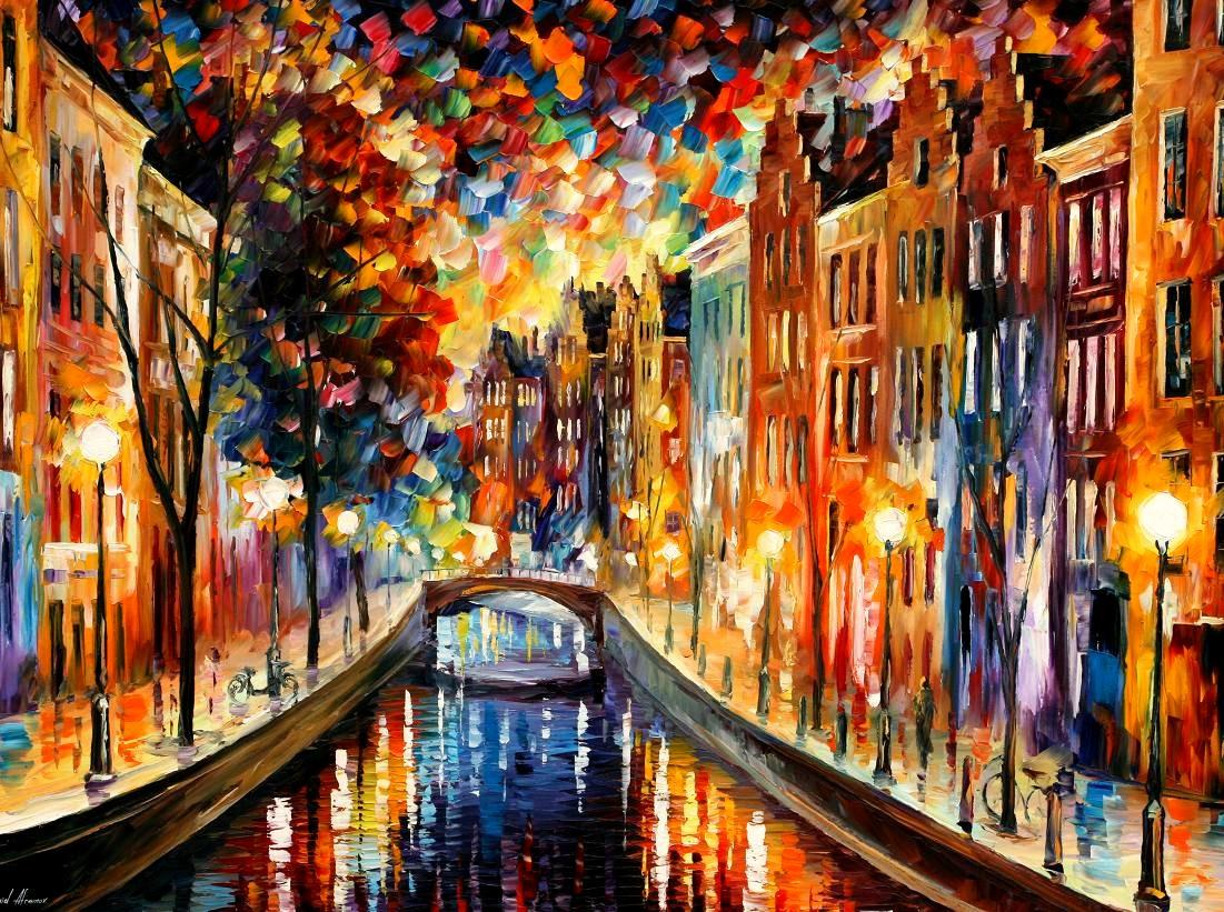 AMSTERDAM - NIGHT CANAL BELLAGIO