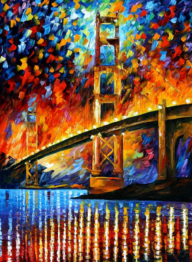 Leonid afremov oil on canvas palette knife buy original for Buy art san francisco