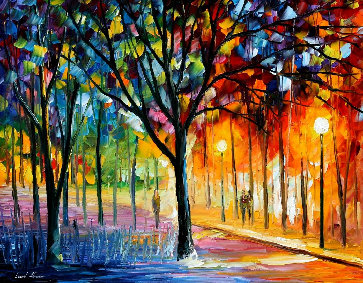 Holiday Mood Palette Knife Oil Painting On Canvas By