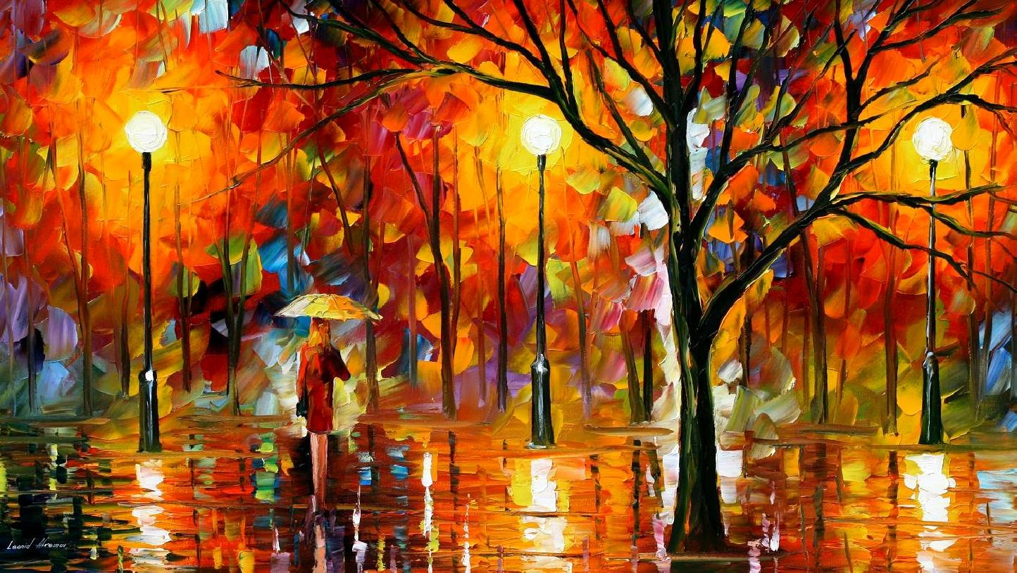 MELTING BEAUTY PALETTE KNIFE Oil Painting On Canvas By Leonid