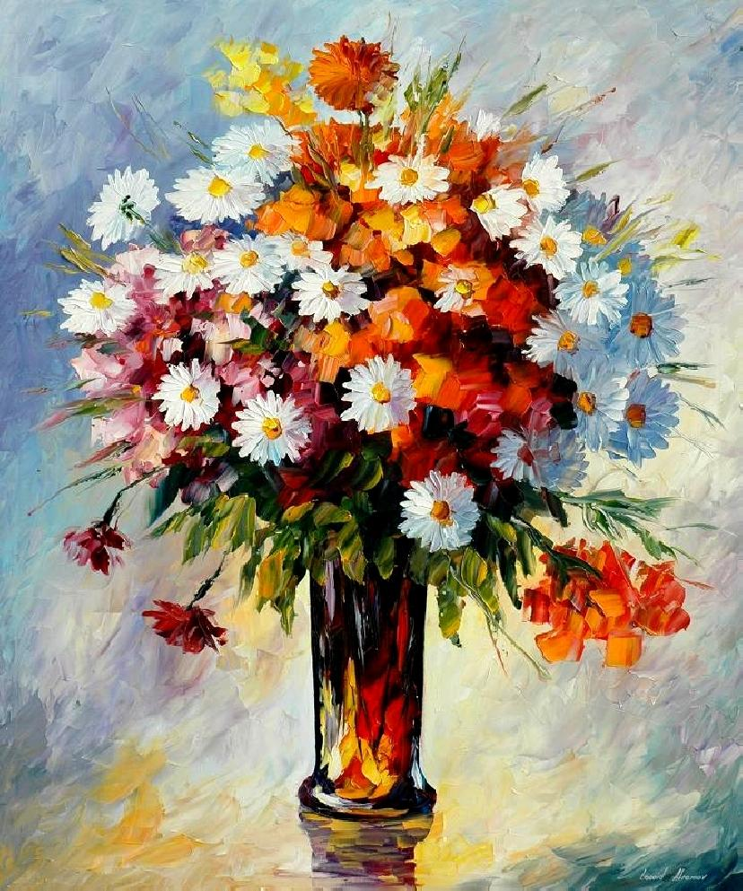 Painting: Palette Knife Oil Painting On Canvas By Leonid
