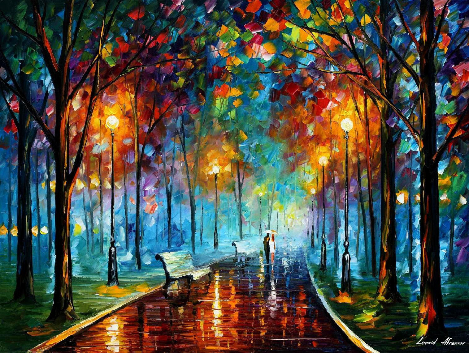 Leonid Afremov, oil on canvas, palette knife, buy original paintings, art, famous artist, biography, official page, online gallery, large artwork, ballet, ballerina, music, dance