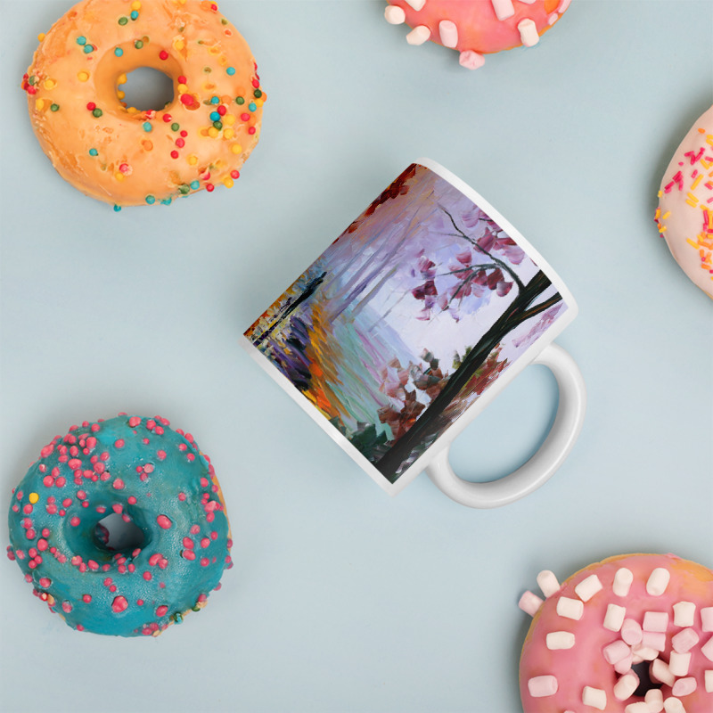 Coffee Mug with print of the painting Lilac Fog