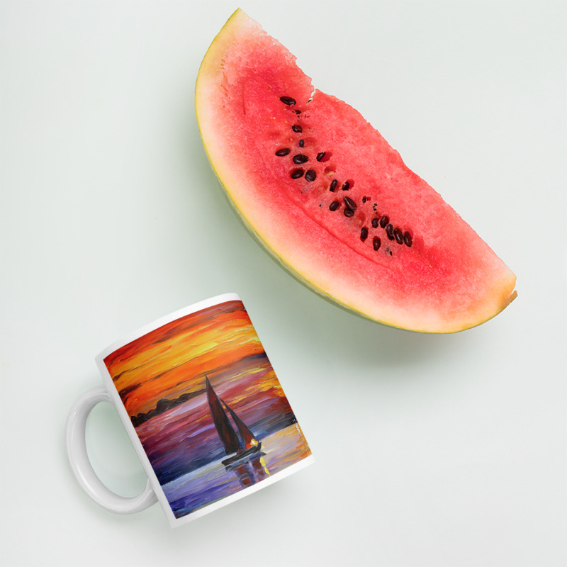 Coffee Mug with print of the painting Quiet Sunset