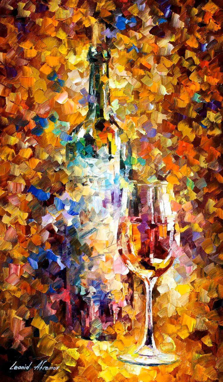 Wine For Emotions Original Oil Painting On Canvas By