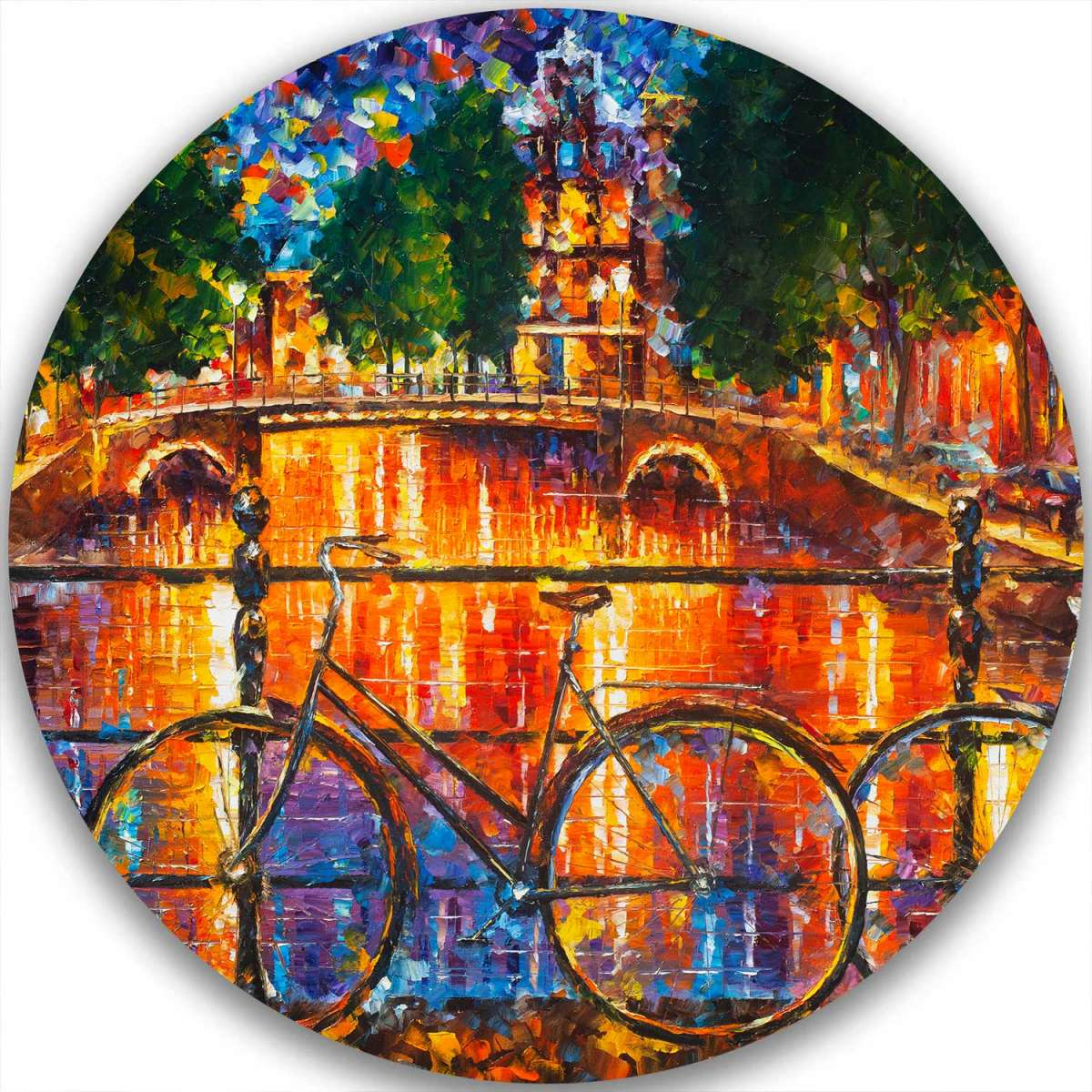 AMSTERDAM - THE BRIDGE OF BICYCLES - LIMITED EDITION CIRCLE GICLEE