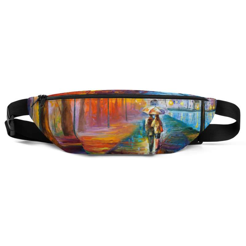 All-Over Print Fanny Pack - City by the lake