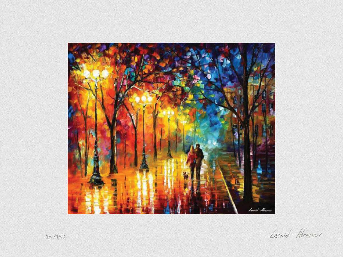 Set of 3 Lithography -  Soul Of The Rain, Morning Sun Of January, Night Happiness