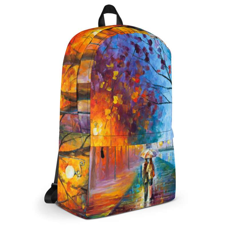 Backpack with print of the painting City By The Lake