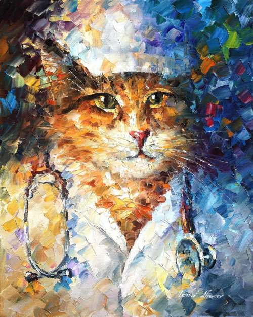 large canvas dog paintings, huge canvas art for sale,cat doctor,