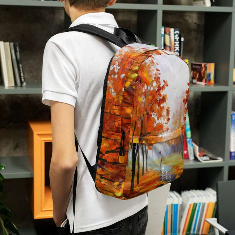 Backpack with print of the painting Pink Fog