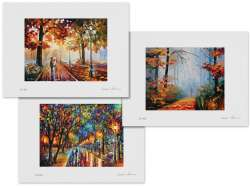 Set of 3 Lithography - The Stroll Of Infinity,  Morning Fog, When Dreams Come True