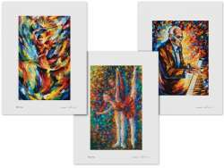 Set of 3 Lithography - Flamenco Festival, Flow Of Melody, Ray Charles