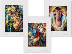 Set of 3 Lithography - Rhapsody, Tango Of Triumph, Modest Girl
