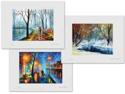 Set of 3 Lithography - Inside The Rain, Lost In Winter, Melody Of The Night