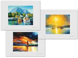 Set of 3 Lithography - Baja California, Before A Storm, Mediterranean Noon