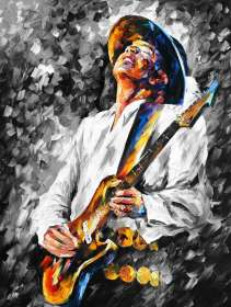 STEVIE RAY VAUGHAN B&W