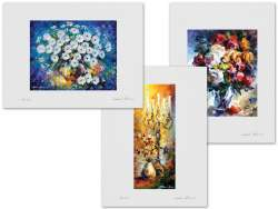 Set of 3 Lithography - Radiance Energy, Roses, Oriental Dreams