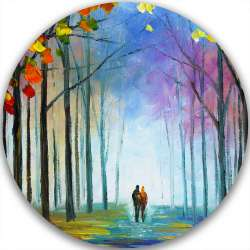 AUTUMN FOG - LIMITED EDITION CIRCLE GICLEE