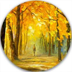 AUTUMN PARK WALK - LIMITED EDITION CIRCLE GICLEE