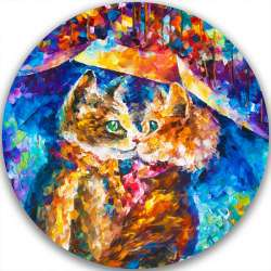 CAT KISS - LIMITED EDITION CIRCLE GICLEE