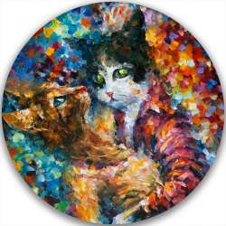 CAT TANGO - LIMITED EDITION CIRCLE GICLEE