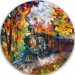 OLD TRAIN - LIMITED EDITION CIRCLE GICLEE