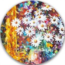 WHITE FLOWERS - LIMITED EDITION CIRCLE GICLEE