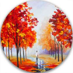 AUTUMN PINK FOG - LIMITED EDITION CIRCLE GICLEE