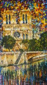 NOTREDAME DE PARIS AT SIENNE RIVER