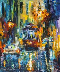 TROLLEY UNDER THE RAIN