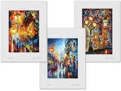 Set of 3 Lithography - Lights In The Night, London's Dreams, Melody Of Passion
