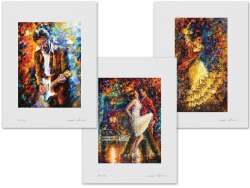 Set of 3 Lithography - Eric Clapton, Eternal Emotions, Flamenco and Fire
