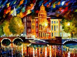 AMSTERDAM - AUTUMN REFLECTIONS - GICLEE